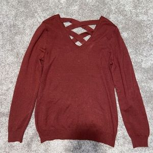 🍂NWT Back Lace-Up Sweater🍂